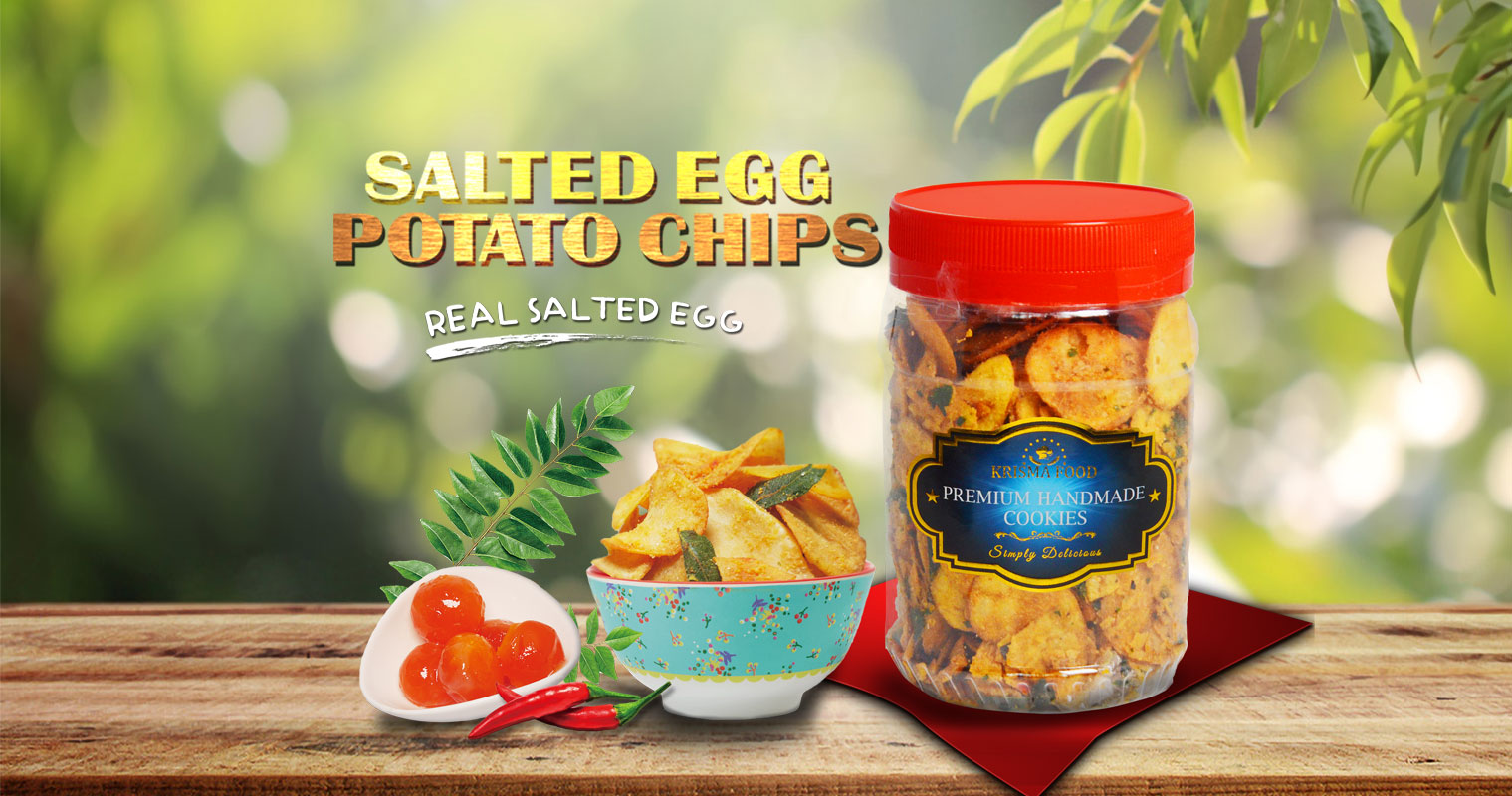 Salted Egg Potato Chips Krisma Food